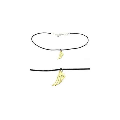 Baby Choker Necklace Golden Half Wing