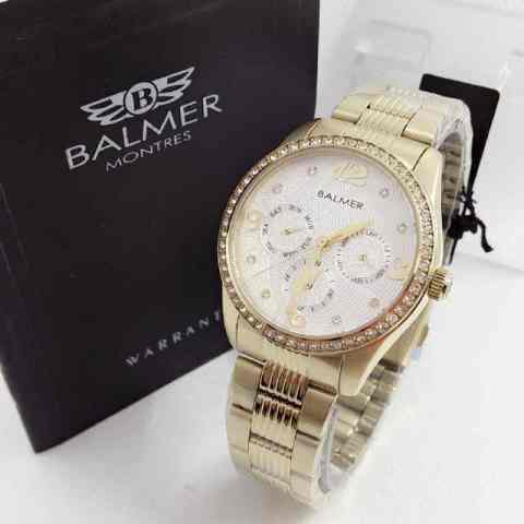 swiss army quartz. Source · Balmer - BL7934 Gold White - Jam .