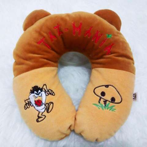 Bantal Leher Karakter Kartun Kualitas SNI Travel Pillow Neck Pillow