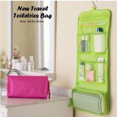 Beautylover Hanging Toiletries Bag Organizer Tas Kosmetik Travel Bag Tas Peralatan Mandi - Hijau