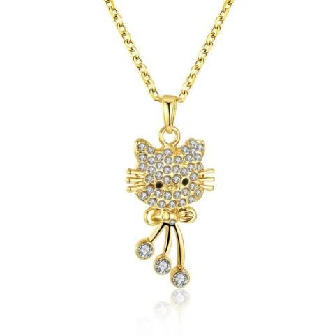 Bella & Co. Necklace LKN18KRGPN590 Aksesoris Perhiasan Kalung Lapis Emas