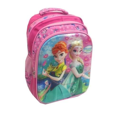BGC 5 Dimensi Gambar Rubah Rubah Disney Frozen Fever 3 Kantung Timbul IMPORT Tas Ransel Anak