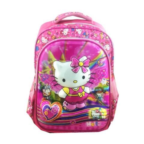 BGC 5 Dimensi Kitty Can Dance Tas Ransel Anak Sekolah SD IMPORT + Lunch Bag Aluminium