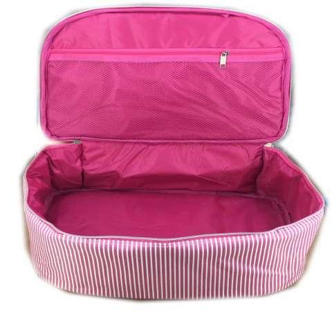 BGC Travel Bag Kanvas 2 Sleting Gliter Hello Kitty + Set Gembok Kunci 20mm
