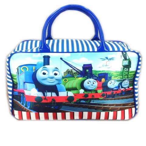 BGC Travel Bag Kanvas Thomas Kereta - BLue White