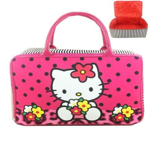BGC Travel Kanvas Hello Kitty Leopard Polkadot - Black Pink