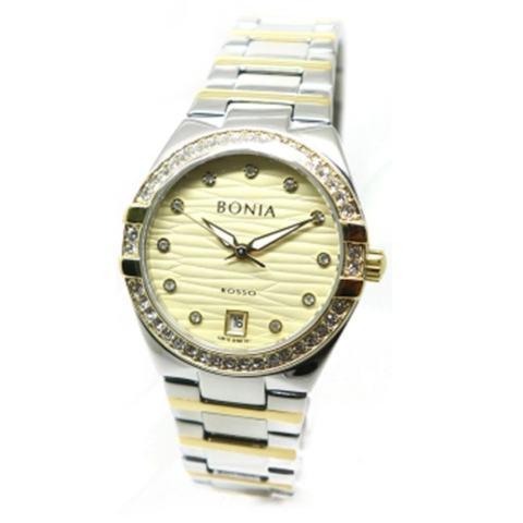 Bonia - Jam Tangan Wanita - Silver Komb Gold-Gold - Stainless Steel - BNR107