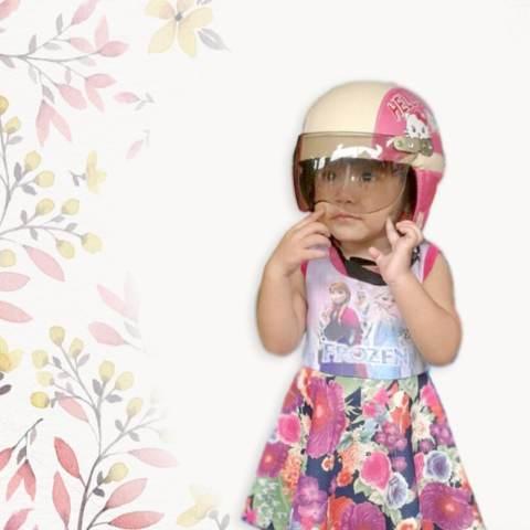 Broico Helm Anak lucu usia 7 sampai 10 tahun Motif Pilot Sofia