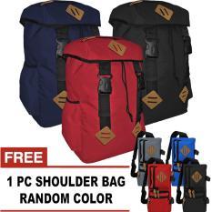 BUNDLE - 1 Enigmatic Laptop Backpack Up To 14 Inchi + FREE 1 Titan Shoulder Bag Random  / Tas Ransel / Tas Laptop / Tas Pria / Tas Wanita / Tas Sekolah / Tas Punggung