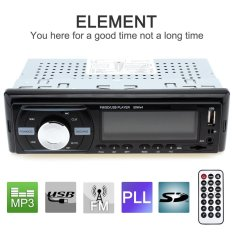 Car Audio Stereo In-Dash 1 DIN 12V Car Bluetooth Radio MP3 Player Support FM UPS WMA INP AUX and Clock