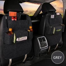 ... Car Seat Organizer Tas Mobil Multifungsi Dipasang Dibelakang Jok Dark Grey
