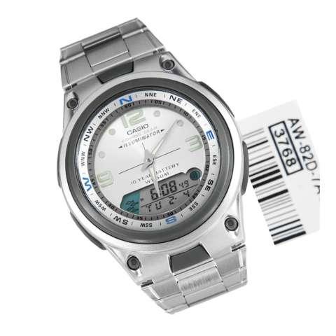 Casio Analog Digital AW-82D-7A - Jam Tangan Pria - Silver - Stainless