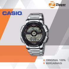 Casio Illuminator Jam Tangan Digital AE-1100WD-1AVDF Youth Series - Tali Stainless Steel