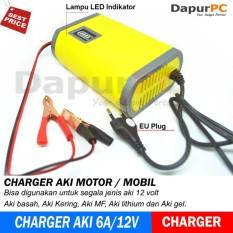 Charger Aki Portable 6A/12V Mobil  Motor