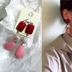 Chic Merah Beracun Tanaman Rajut Akupunktur Telinga
