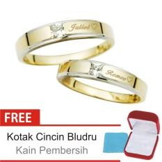 Cincin Kawin Couple Perak Lapis Emas DK.18 - Silver Exclusive