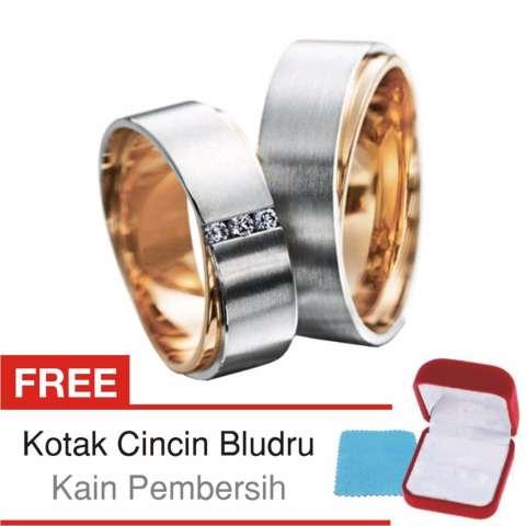 Harga Cincin Kawin Couple Perak Lapis Rosegold Doff D08 Silver Exclusive -