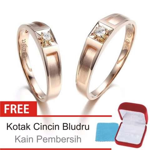 Cincin Kawin Couple Perak Lapis Rosegold E 16 Silver Exclusive .