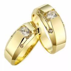 Cincin Kawin Palladium, Cincin Pernikahan Silver Emas No L9