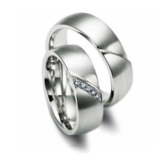 Cincin Pasangan Perkawinan USA Diamond - Model 801 - Silver