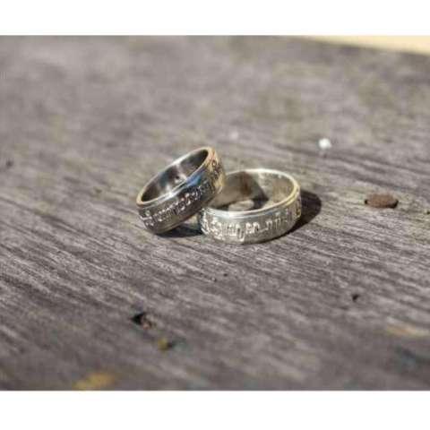 cincin pernikahan muslim sepasang perak 925 rhodium