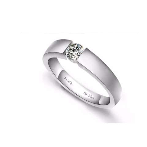 cincin pernikahan muslim untuk pria bahan perak 925 rhodium