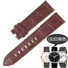 CoCoXi Journey Strap For Montblanc Star 9670 Time Walker Leather Watchband20/22Mm - intl
