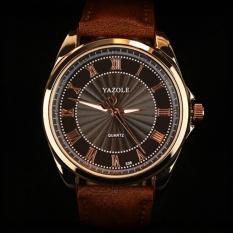CoCoXi Luxury Watches Fashion Men Quartz Watch Malewristwatches Quartz-Watch Yzl336h-Brown - intl