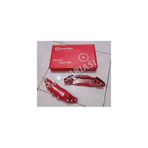 Cover Brembo Besi Merah Size Medium Tanpa Potong Plug & Play
