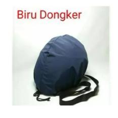 COVER HELM ANTI AIR Raincoat Jas Hujan Helm Tas Helm Sarung Helm Biru .