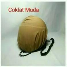 COVER HELM ANTI AIR - Raincoat - Jas Hujan Helm Tas Helm Sarung Helm - Coklat Muda