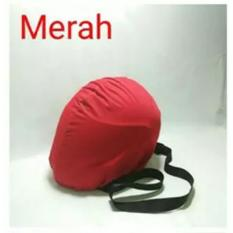 COVER HELM ANTI AIR - Raincoat - Jas Hujan Helm Tas Helm Sarung Helm - Merah