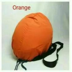 COVER HELM ANTI AIR - Raincoat - Tas Helm Sarung Helm - Orange