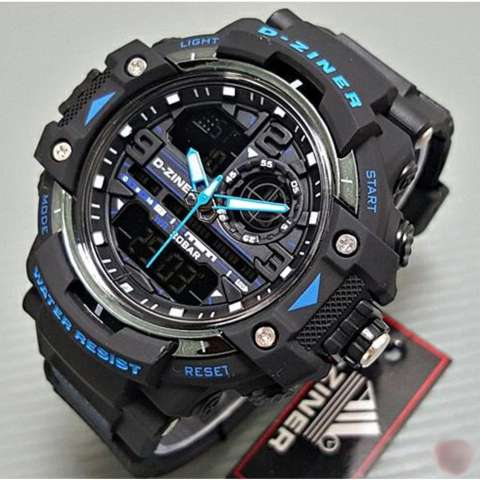 ... WR 30m AD1081 Jam Tangan Pria Tali Strap Karet Silicone Digital Analog Wristwatch Fashion Source Sport