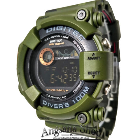 Digitec Dg2089 - Jam Tangan Sporty Fashion Army Serial Fishman Pria dan Wanita - Digital Waterresist