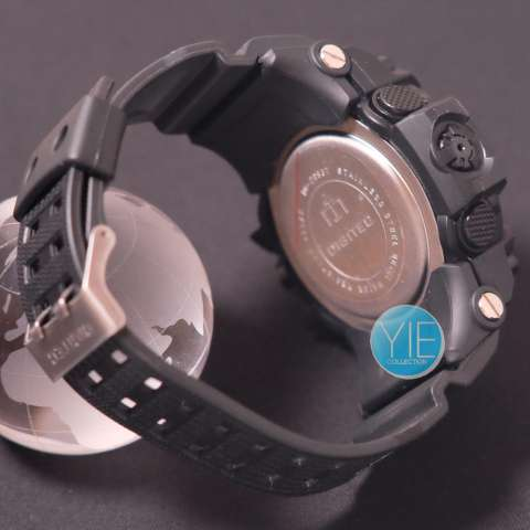 Digitec Jam Tangan Sport Pria DG 2093 T Dual Time Original Anti Air Full Hitam