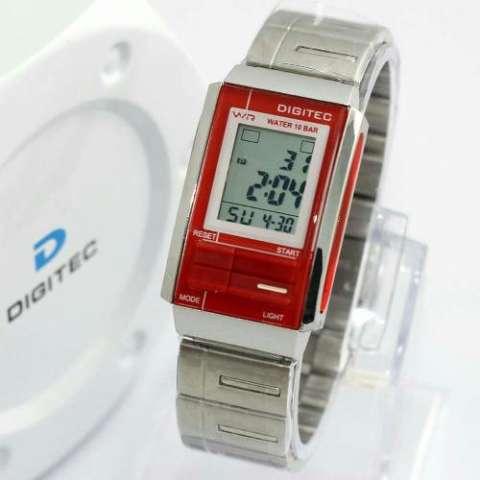 Digitec Sporty - Jam Tangan Digital - Stainless Steel - DG 3022 Silver