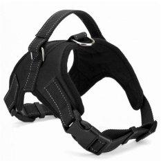 Dog Harness Bisa Disesuaikan Pet Dog Big Exit Harness Rompi Kerah Tali untuk Kecil dan Besar Anjing Pitbulls-hitam (M) -Intl