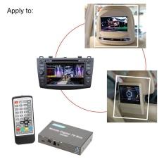 Dvb-t Mini Berbagai Channel Mobile Car Kotak TV Digital Analog Penala TV Kecepatan Tinggi 240 Km/h Kuat Alat Penerima Sinyal dengan 2 Antena -Intl