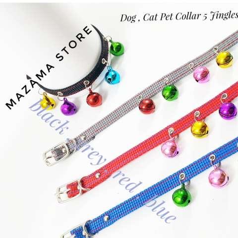 Edoth Dog Cat Pet Collar 5 Jingle Bell Random / Kalung Kucing / Kalung Anjing /