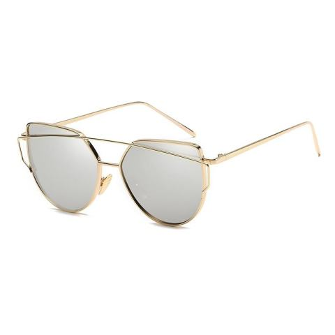 Fashion Baru Logam Warna Film Kacamata Pria dan Women Retro Style Sunglasses-Emas Bingkai Merkuri
