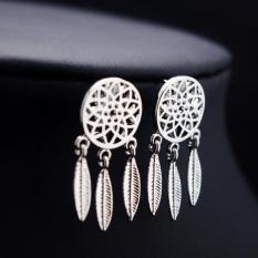 Fashion Women's Cool dreamcatcher Feathers Alloy Drop Stud Earrings SL - intl