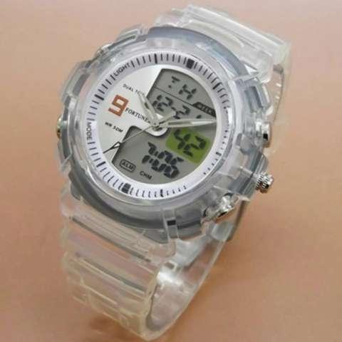 ... Fortuner Dual Time FR 836241 Jam Tangan Sport Wanita Rubber Strap
