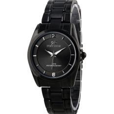 Fortuner  / Original / Style FR 1264L FB / Jam tangan Wanita / Hitam -Stainless steel