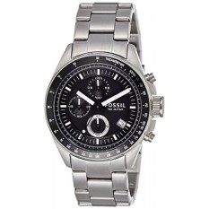 Fossil Mens Decker Quartz Stainless Steel Casual Watch, Color:Silver-Toned (Model: CH2600IE)