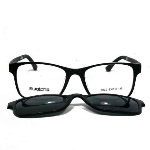 Frame Kacamata Pria Clip On Polaroid 7002 Bisa Dipasang Lensa Minus Di Optik Terdekat
