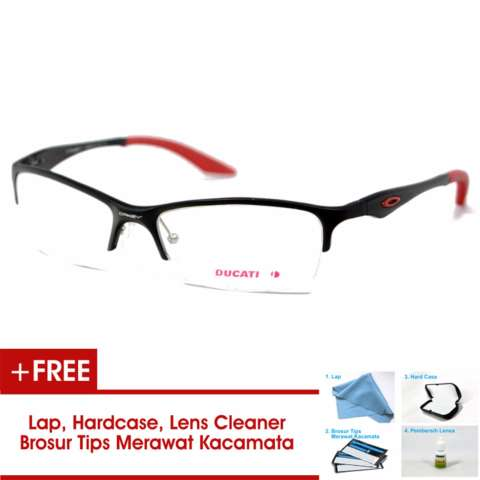 Frame Kacamata Pria Sporty Ducati Half Titanium Hitam Merah Bisa Dipasang  Lensa Minus Di Optik Terdekat f3fda17520