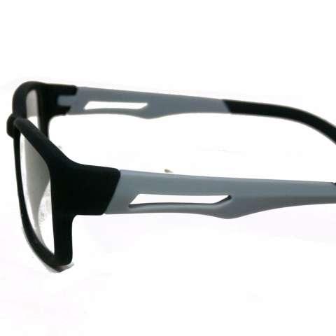 Frame Kacamata Pria Sporty S837 Abu Abu Bisa Dipasang Lensa Minus Di Optik Terdekat