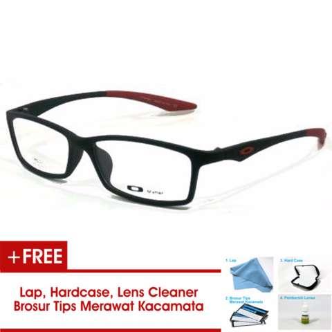 Frame Kacamata Pria Sporty TR533 Hitam Merah Bisa Dipasang Lensa Minus Di Optik Terdekat