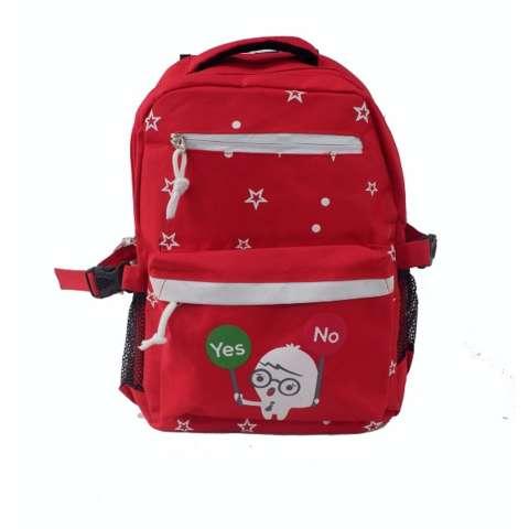 Freeshop Ransel Tas Anak Kanvas Tas Sekolah Berlibur Bahu Bag Red - S316